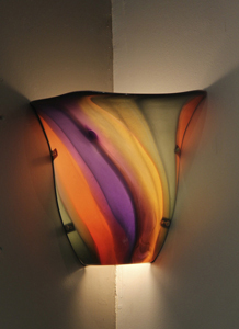 Sconce Nicholson Blown Glass